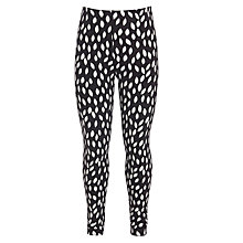 Buy Donna Wilson for John Lewis Leaf Print Leggings, Black/White Online at johnlewis.com