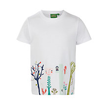 Buy Donna Wilson for John Lewis Border Print T-Shirt, White Online at johnlewis.com