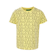 Buy Donna Wilson for John Lewis Blah Blah T-Shirt, Yellow Online at johnlewis.com