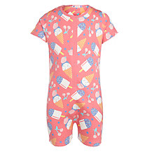 Buy John Lewis Girl Shortie Cherry Lolly Pyjamas, Pink Online at johnlewis.com
