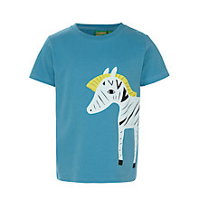Buy Donna Wilson for John Lewis Zebra T-Shirt, Blue Online at johnlewis.com