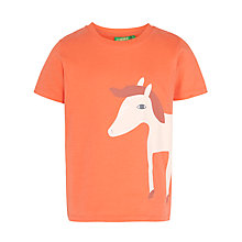 Buy Donna Wilson for John Lewis Horse Motif T-Shirt, Coral Online at johnlewis.com