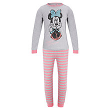 Buy Disney Girls' Minnie Mouse Pyjamas, Pink/Grey Online at johnlewis.com