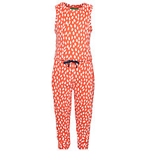 Buy Donna Wilson for John Lewis Leaf Print Jumpsuit, Red Online at johnlewis.com