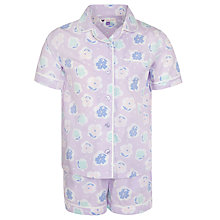 Buy John Lewis Girl Short Sleeve Pyjamas, Purple Online at johnlewis.com