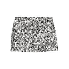 Buy Mango Jacquard Cotton Mini Skirt, Black Online at johnlewis.com