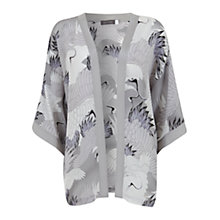 Buy Mint Velvet Reina Print Silk Kimono, Grey Online at johnlewis.com