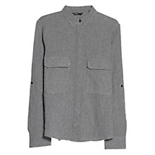 Buy Mango Houndstooth Cotton Blend Shirt, Black Online at johnlewis.com