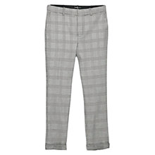 Buy Mango Prince of Wales Check Trousers, Black Online at johnlewis.com
