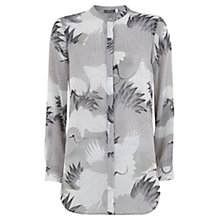 Buy Mint Velvet Reina Print Longline Blouse, Multi Online at johnlewis.com