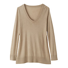 Buy Winser Silk/Cashmere Jumper, Beige Melange Online at johnlewis.com
