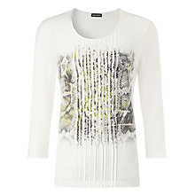 Buy Gerry Weber Snake Placement Top, Off White Online at johnlewis.com
