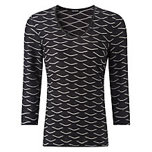 Buy Gerry Weber Scallop Jersey Top, Slate Grey Online at johnlewis.com