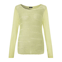 Buy Gerry Weber Ladder Knit Jumper, Lime Online at johnlewis.com