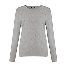Buy Gerry Weber Sparkle Gem Jumper,  Grey Online at johnlewis.com
