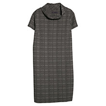 Buy Violeta by Mango Jacquard Wool-Blend Dress, Black Online at johnlewis.com