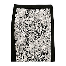 Buy Violeta by Mango Jacquard Jersey Skirt, Black Online at johnlewis.com