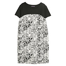 Buy Violeta by Mango Textured Jacquard Dress, Black/White Online at johnlewis.com