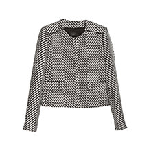 Buy Mango Herringbone Jacquard Jacket, Black Online at johnlewis.com