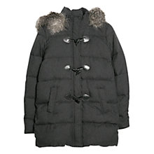 Buy Mango Feather Down Duffle Coat, Dark Grey Online at johnlewis.com