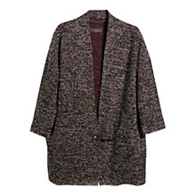 Buy Violeta by Mango Buckle Fantasy Jacket, Dark Red Online at johnlewis.com