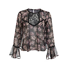 Buy Miss Selfridge Victoriana Blouse, Multi Online at johnlewis.com