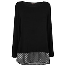 Buy Phase Eight Solange Spot Trimmed Top, Black Online at johnlewis.com