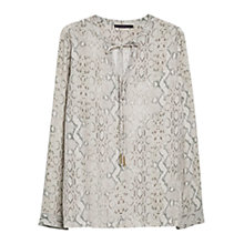 Buy Violeta by Mango Snake Pattern Blouse, Dark Blouse Online at johnlewis.com