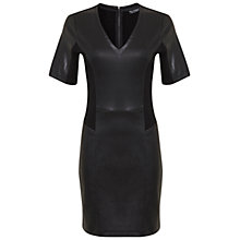 Buy Miss Selfridge Ponte Dress, Black Online at johnlewis.com
