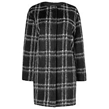 Buy Phase Eight Doris Checked Coat, Black/Grey Online at johnlewis.com
