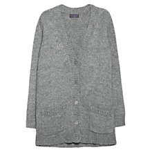 Buy Violeta by Mango Wool Blend Cardigan, Medium Grey Online at johnlewis.com