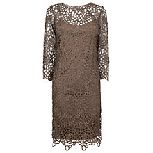 Buy Phase Eight Suzani Dress, Gold Online at johnlewis.com