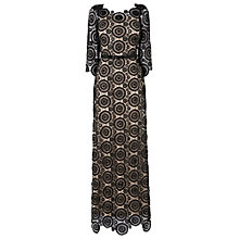Buy Phase Eight Collection 8 Regina Beaded Lace Maxi Dress, Black/Beige Online at johnlewis.com