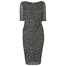 Buy Phase Eight Textured Spot Dress, Black/White Online at johnlewis.com
