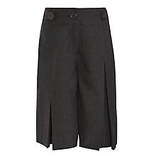 Buy John Lewis Adjustable Waist Box Pleated School Culottes, Grey Online at johnlewis.com
