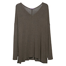 Buy Violeta by Mango V-Neck T-Shirt, Khaki Online at johnlewis.com