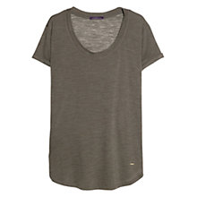 Buy Violeta by Mango Flecked Wool-Blend T-Shirt, Khaki Online at johnlewis.com