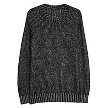Buy Mango Fluffy Flecked Jumper, Black Online at johnlewis.com