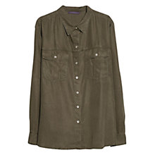 Buy Violeta by Mango Military Tencel Shirt, Khaki Online at johnlewis.com