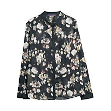 Buy Violeta by Mango Faded Flower Shirt, Black Online at johnlewis.com