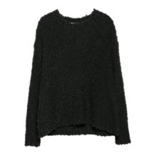 Buy Mango Alpaca Wool Blend Sweater, Black Online at johnlewis.com
