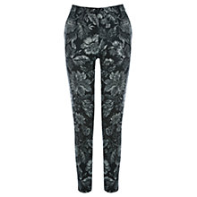 Buy Warehouse Tapestry Trousers, Black Pattern Online at johnlewis.com