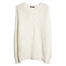 Buy Mango Openwork Jumper, Natural White Online at johnlewis.com