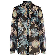 Buy Warehouse Iris Print Blouse, Multi Online at johnlewis.com
