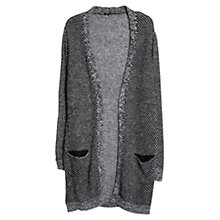 Buy Mango Mohair Wool Blend Long Cardigan, Black Online at johnlewis.com