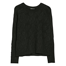 Buy Mango Animal Texture Jumper, Black Online at johnlewis.com