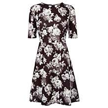 Buy Oasis Compact Rose Skater Dress, Multi Online at johnlewis.com