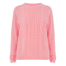 Buy Warehouse Cable Knit Jumper Online at johnlewis.com