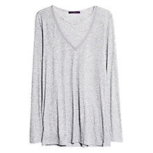 Buy Violeta by Mango Knitted Ribbon T-Shirt, Medium Grey Online at johnlewis.com