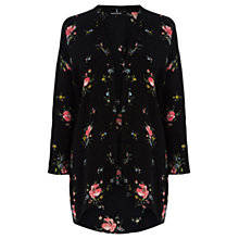 Buy Warehouse Oriental Flower Print Kimono, Multi Online at johnlewis.com